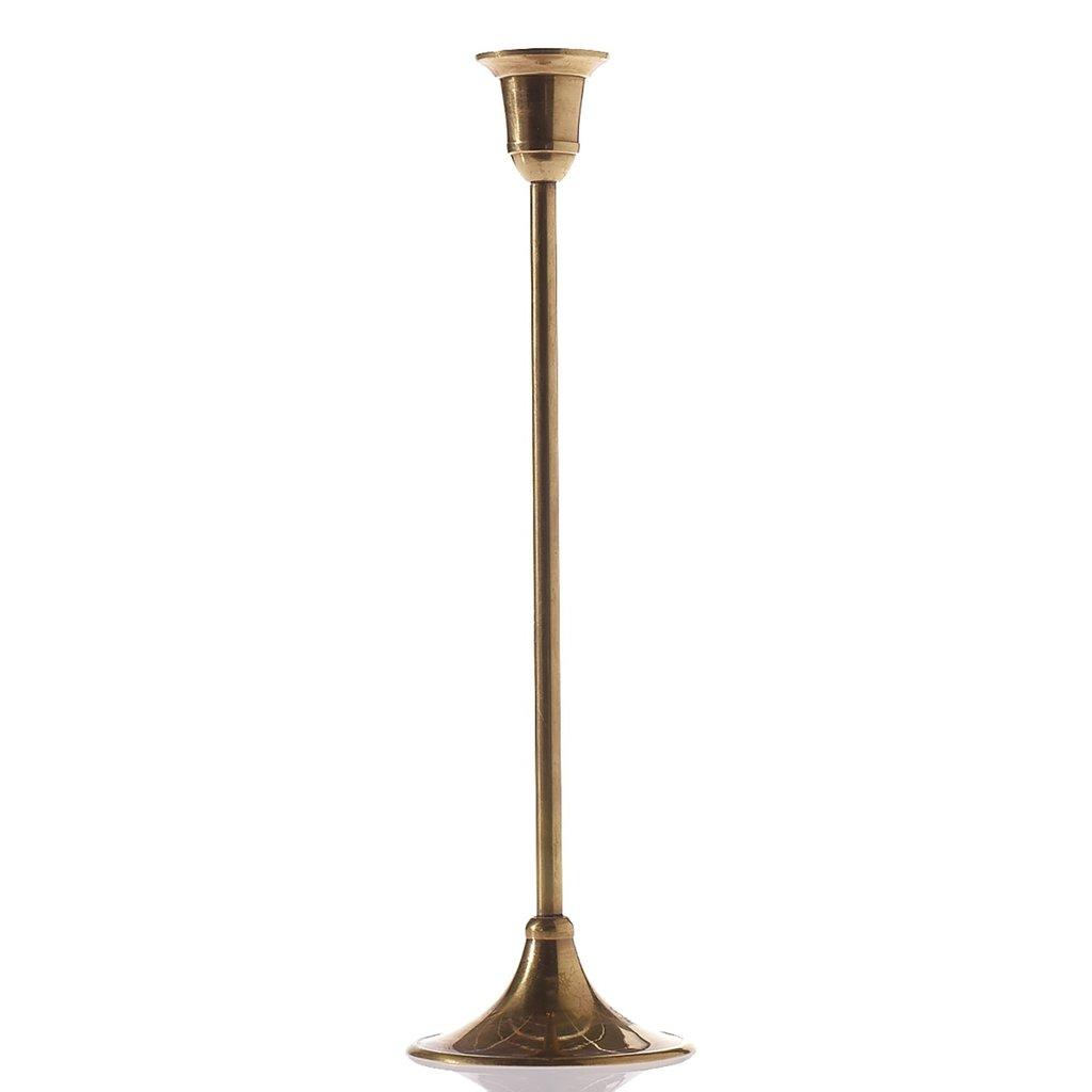 Antique Metal Candlestick (3.25 x 11)