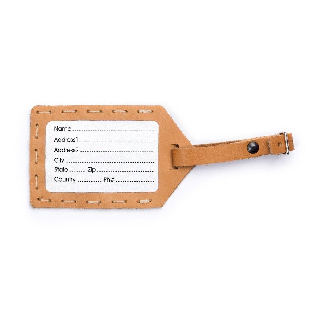 Rustico Leather Luggage Tag