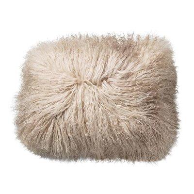 Slate Tibetan Lamb Fur Pillow