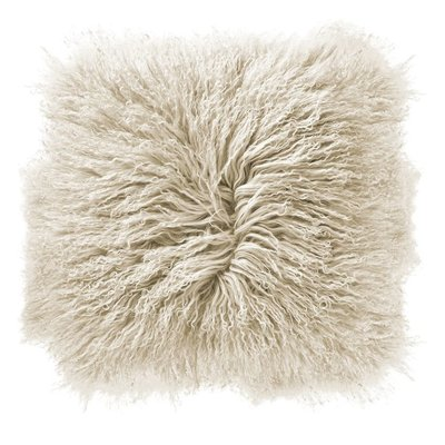 "Slate 16"" Mongolian Lamb Fur Pillow"