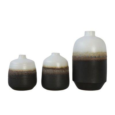 Slate Ceramic Two-Tone Vase