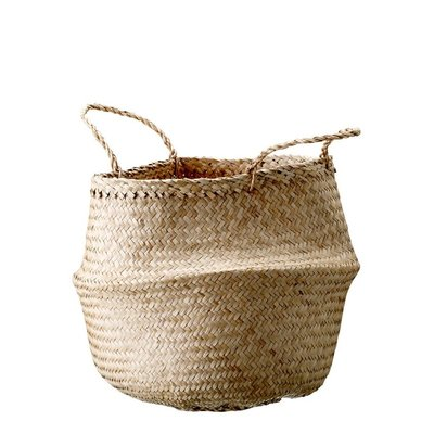 Slate Natural Seagrass Basket with Handles