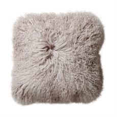 """Slate Square Mongolian Lamb Fur 14"""" Pillow"""