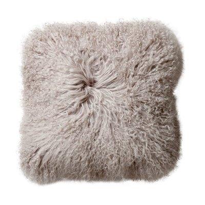 Small Square Mongolian Lamb Fur Pillow