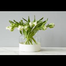Slate White Colorblock Flower Vase
