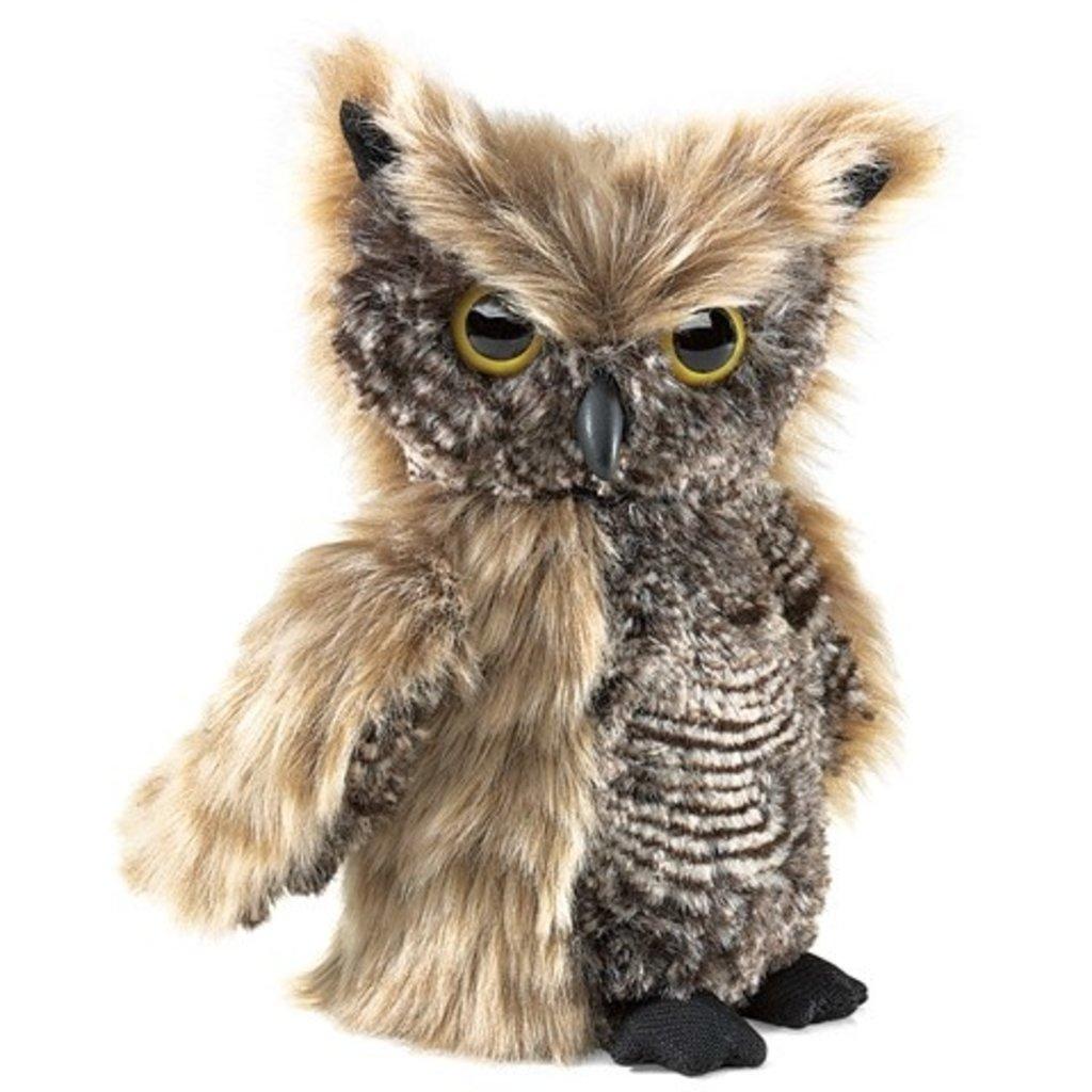 Slate Screech Owl Puppet