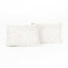 Braided Cream Pillow Lumbar Pillow