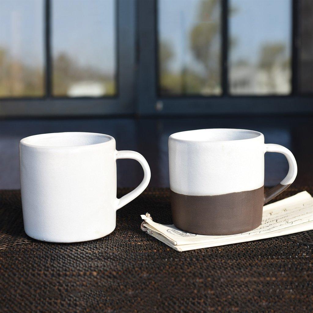 Slate Mug Partial Glaze
