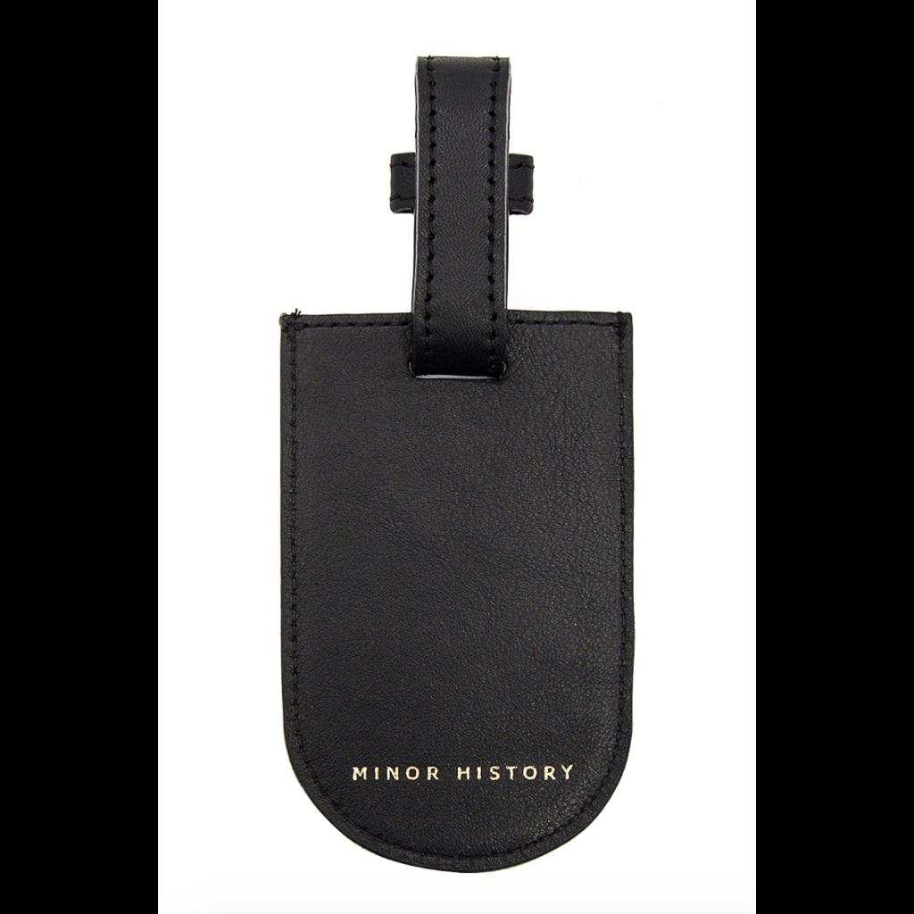 Minor History Half Moon Leather Luggage Tag
