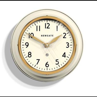 NEWGATE Clock Cookhouse Matte Linen White