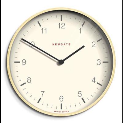 Newgate Mr Clarke Clock Pale Wood Arabic Dial