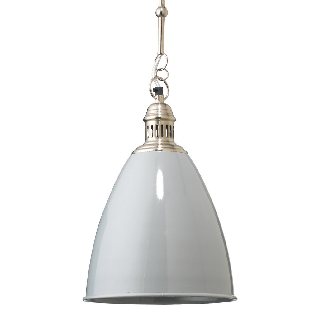 Slate Saloon Pendant in Grey Metal