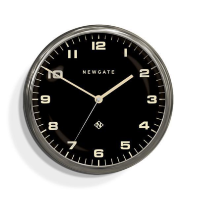Newgate Clock Chrysler Burnished Steel Reverse Dial