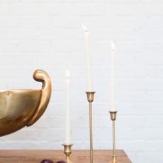 Antique Metal Candlestick (3.25 x 8.25)