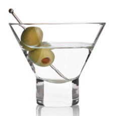 Slate Crystal Martini Glass