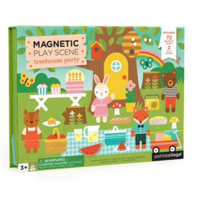 Slate Treehouse Party Magnetic Play scene