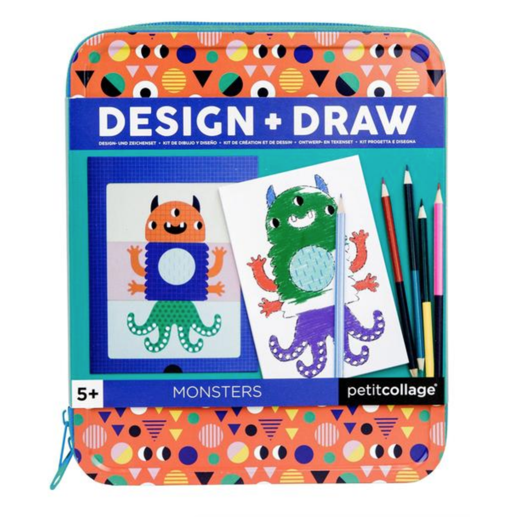 Monsters Design & Draw Travel Activity Kit
