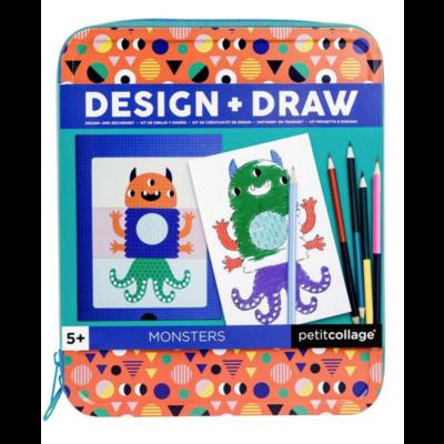 Monsters Design & Draw Travel Activity Kit