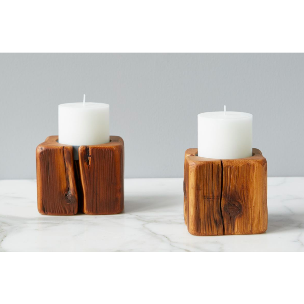 Cordoba Natural Candle Holder