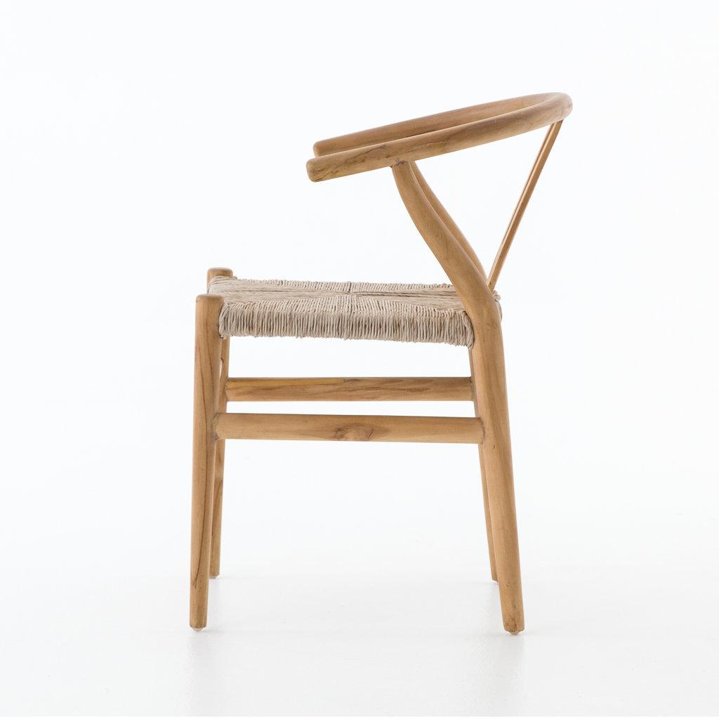 Slate Indoor/Outdoor Teak Dining Chair