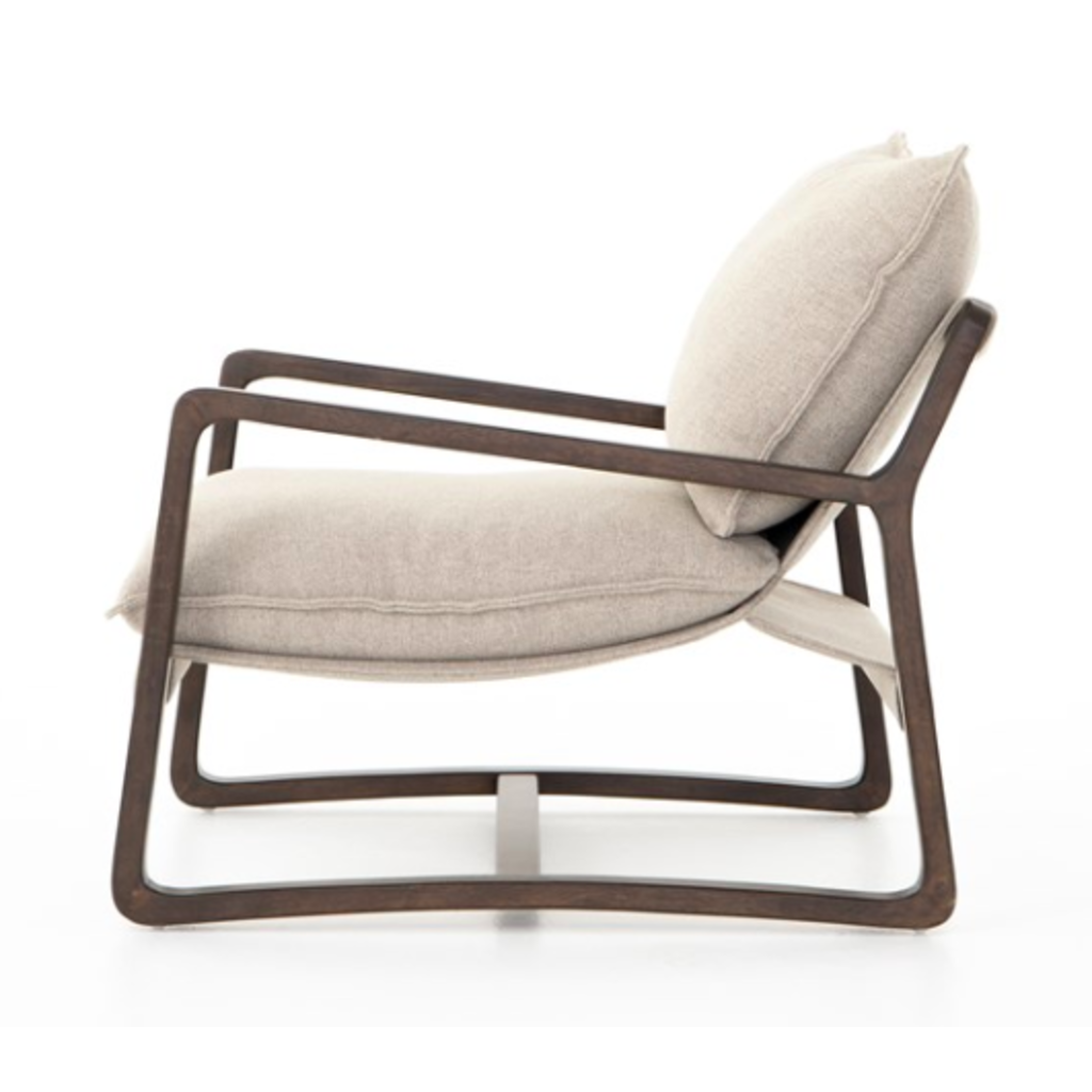 Slate Oak Chair with Oatmeal Jute Cover