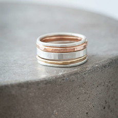 Colleen Mauer Designs 3-Color Mixed Metal Stacking Rings