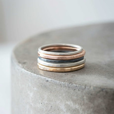 Colleen Mauer Designs 4-Color Mixed Metal Stacking Rings