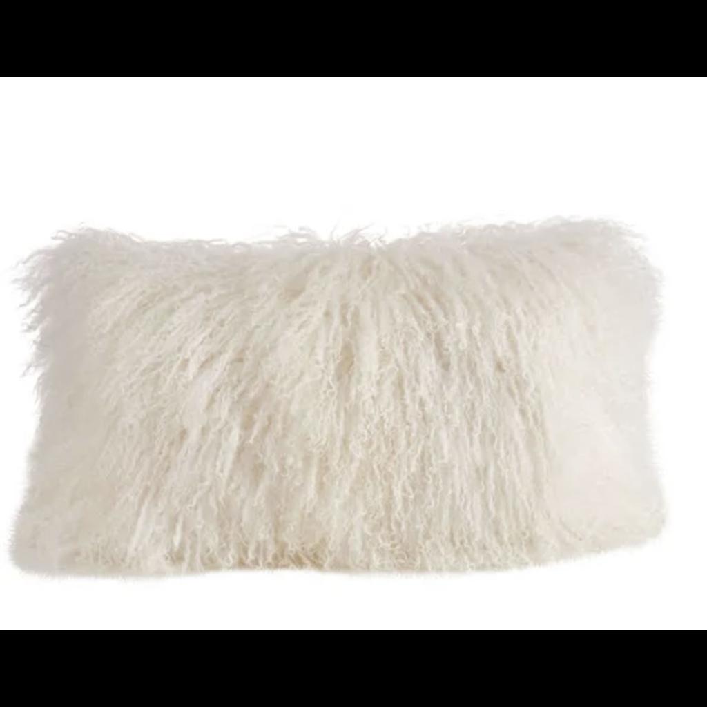 Mongolian Lamb Fur Small Lumbar PIllow