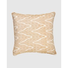 "Cloth & Co. Chevron Turmeric Ikat 22"" Pillow"