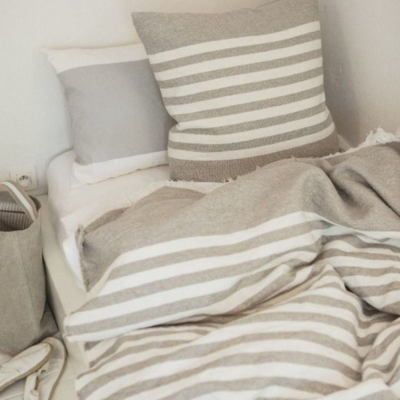 "Libeco Camille Stripe 25"" Pillow"