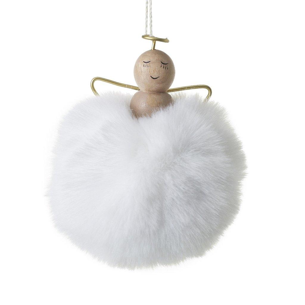 Slate Angel Puff Ornament