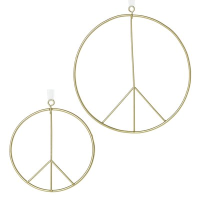 Slate Peace Sign Ornament