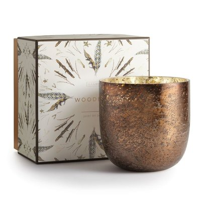 Mercury Glass Luxe Holiday Candle