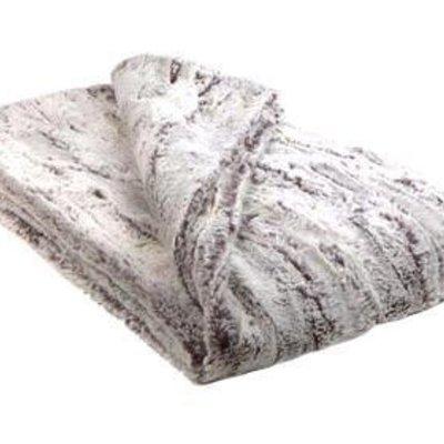 Slate Luxury Faux Fur Throw