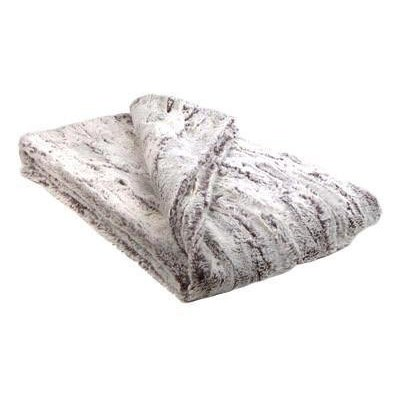 Slate Luxury Faux Fur Throw