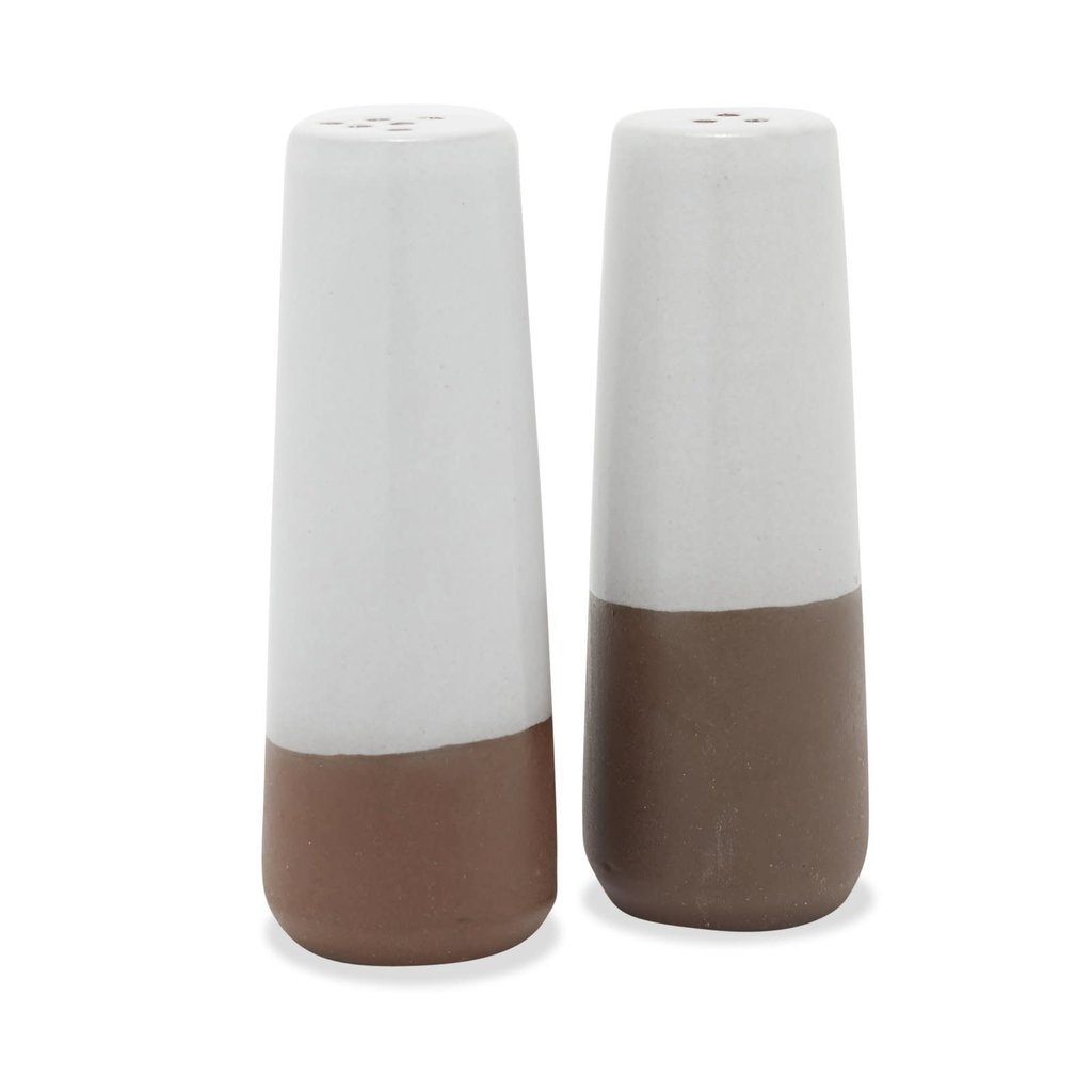 Slate Salt and Pepper Shakers Partial Glaze (Pair)