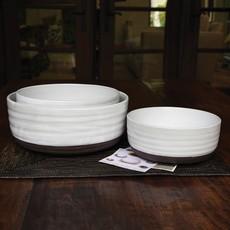 Slate Partial Glaze Serving Bowl