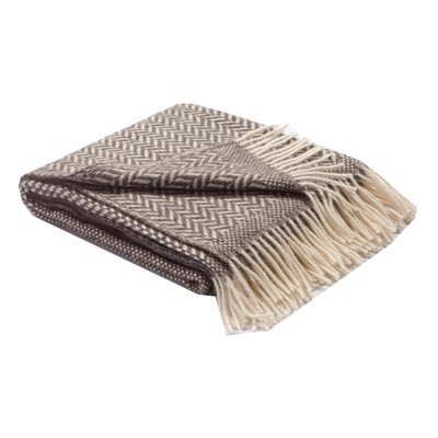 Slate Woven Wool and Alpaca Throw