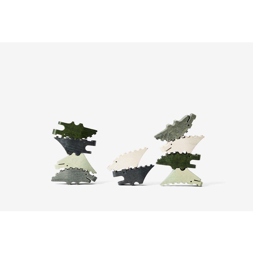 areaware Croc Pile Mini (Set of 10)