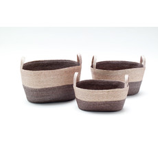 Slate Oval Floor Basket