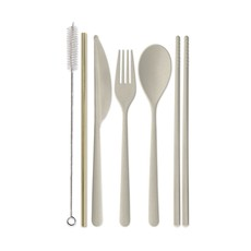 Slate Portable Flatware Set