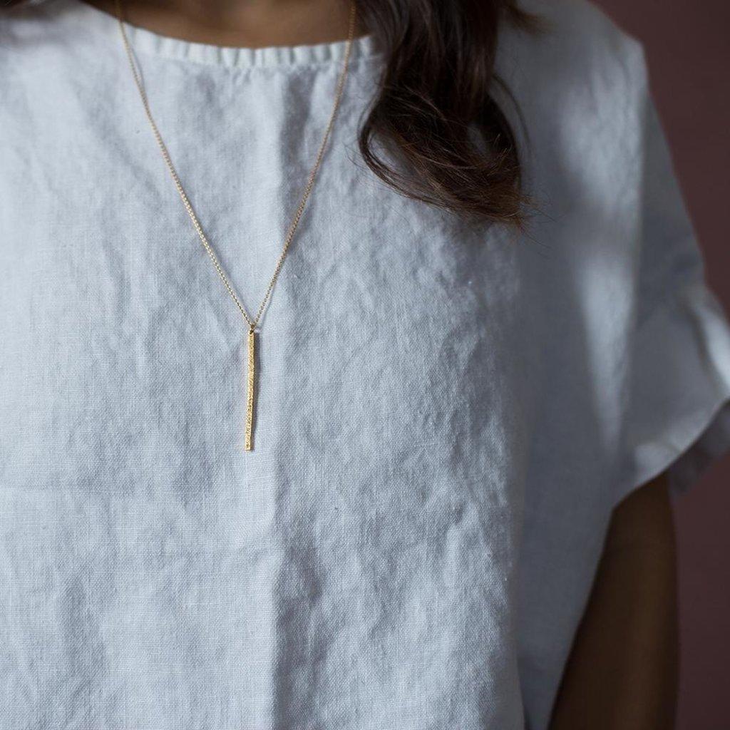 Christina Kober Designs Diamond Dusted Bar Necklace