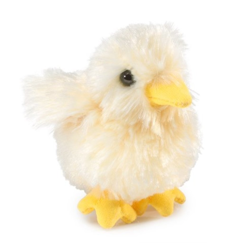 Slate Mini Chick Finger Puppet