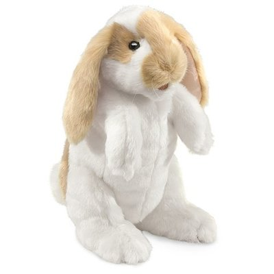 Slate Standing Lop Rabbit Puppet