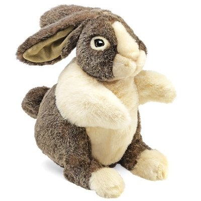 Slate Dutch Rabbit Puppet