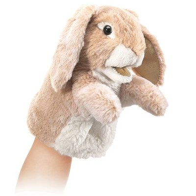 Slate Little Lop Rabbit Puppet