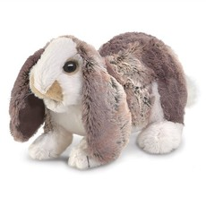 Slate Baby Lop Rabbit Puppet
