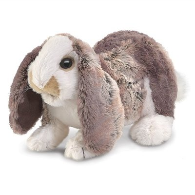 Slate Baby Lop Rabbit Puppet