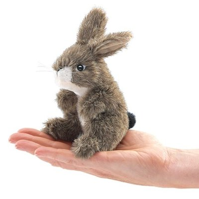 Slate Mini Jack Rabbit Finger Puppet