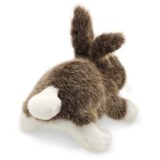 Slate Mini Cottontail Rabbit Finger Puppet